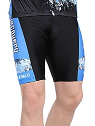 WOLFBIKE Summer Men's 3D Gel Pad Cycling Shorts-Black+Blue
