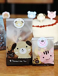 120pcs sello lindo pegatinas de animales caja de dulces de regalo hornear envasado artesanal favorece decoraciones de la fiesta de bienvenida al bebé