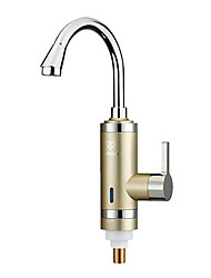 Digital Electric Water Heaters Faucet Cold hot dual-purpose gold kitchen
