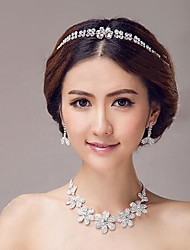 Alloy Wedding Manually Produced Tiaras And Necklaces