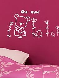 Sports Day Bear Garden Wall Stickers