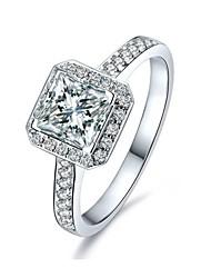 Принцесса CZ обручальное кольцо