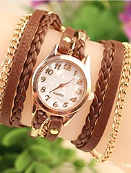 Women's Fashion Leather Chained Japanese Quartz Watch(Assorted Colors) Cool Watches Unique Watches Strap Watch