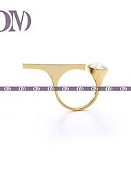 OM® Gold-tone Jewel & Bar Open Ring