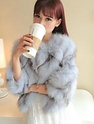 chaqueta corta de piel de abrigos de piel de la mujer pura y fresca y dulce pequeña capa del viento zorro pelo vello de las piernas (más color)