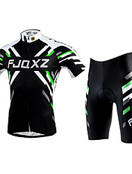 FJQXZ Cycling Jersey with Shorts Unisex Short Sleeve Bike Jersey Clothing Suits Quick Dry Ultraviolet Resistant BreathablePolyester