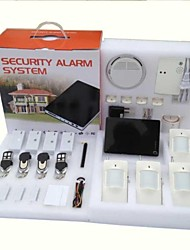 H1CK Large Smart Phone Wireless Wired Burglar GSM Home Security Alarm System with PIR Door Sensor Siren