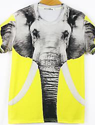 t-shirt laranja padrão unisex de impressão