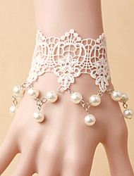 White Lace  Socialite Noble Jewelry Pearl Bracelet