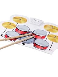 tragbare Silizium faltbare elektronische Roll-up Drum-Pad-Kit mit Stick und USB-Kabel
