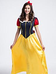Costumes de Cosplay / Costume de Soirée Princesse / Conte de Fée Fête / Célébration Déguisement Halloween Jaune Mosaïque Robe / Coiffure