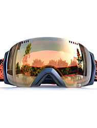 BASTO Black Frame Golden Sensor Skiing Snow Goggles
