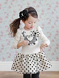 Girl's Dress,Print Cotton Spring / Fall