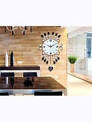 Elegant Glass Wall Clock with Drills