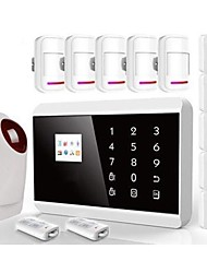 TFT Color Display Dual Network Home Alarm Security System IOS&Android APP