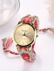 Women Big Circle Dial  National Hand Knitting Brand Luxury Lady Watch C&D-279 Cool Watches Unique Watches