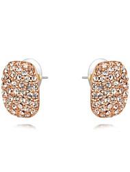 cercle de la mode cordon rectangle alliage cristaux de zircon boucle d'oreille haras des femmes (1 paire)