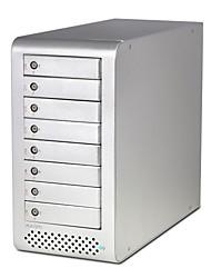"""MAIWO K8FSAS Aluminum alloy 2.5""""/3.5"""" SATA External Hard Drive Enclosure"""