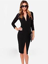 Европейский тренд моды случайные дешевые платья ou.bai.li женщин