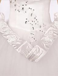 Elbow Length Fingertips Glove Satin/Polyester Bridal Gloves/Party/ Evening Gloves