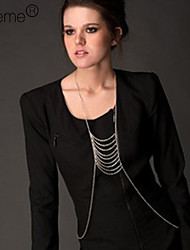 Women's Silver Plated Alloy Tassel Body Chain