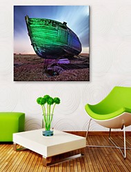 E-HOME® Stretched Canvas Art The Boat Dock Decorative Painting