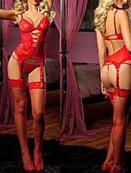 Red Pink Women's Slim Fit Sexy Nightwear