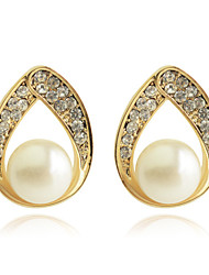 Earring Stud Earrings / Drop Earrings Jewelry Women Party / Daily / Casual Pearl / Crystal / Gold Plated 2pcs