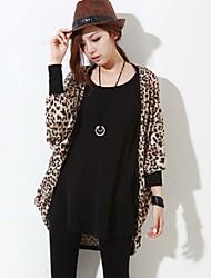 Leopardo de las mujeres suelta Coatigan