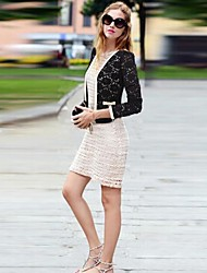 Women's Lace Patchwork Short Blazer  (More Colors)