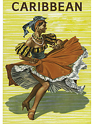 The Dancing Caribbean Woman Roller Shade