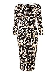 el vestido del lápiz de milliya mujeres moda casual elástica equipada