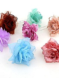 Fashion Korean  Lovely Colorful Rose Hairpins Random Color