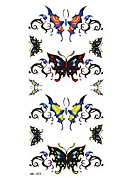 Tatuajes Adhesivos - Modelo - Series de Animal - Mujer/Girl/Adulto/Juventud - Negro - Papel - #(1) - #(18.5x8.8)