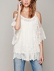 Women's Strap Lace Strapless Blouse