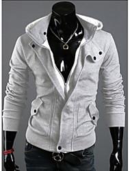 chaqueta informal de primavera de los hombres chaqueta con capucha cepillado
