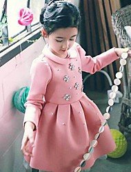 Girl's Fashion  Flower  Dresses  Lovely Princess Winter  Dresses