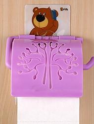 vv oso conjunto de accesorios de baño, seamles stick-up titulares de papel higiénico cepillo de dientes de plástico modernos (color al azar)