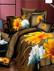 housse de couette, vente chaude literie 3d définit drap de lit housse de couette réversible définir lit dans un sac avec un motif fleur de
