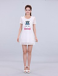 vestido estampado de patrón jaja-dlami de las mujeres