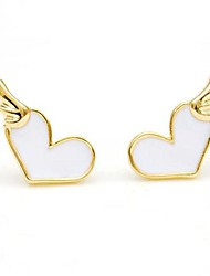 Fashion Alloy Drip Love Fashion Earrings(More Color)