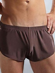 Men's Sexy Solid Boxers Underwear,Nylon Ice Silk