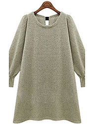 Women's Round Collar Back Bow Loose Knit Dress