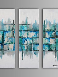 Hand-Painted Abstract Fantasy Square,Modern European Style Three Panels Canvas Oil Painting For Home Decoration