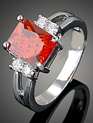 Statement Rings Gemstone Cubic Zirconia Alloy Fashion White Red Blue Jewelry Party 1pc