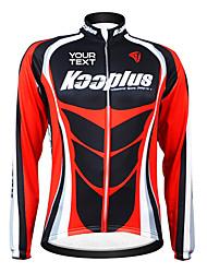 kooplus unisex personalizado negro rojo otoño primavera de manga larga el poliester