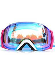Basto marco blanco de sensor azul gafas de nieve esquí a prueba de viento