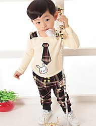 Boy's Cotton / Spandex Clothing Set,Spring / Fall Check