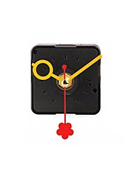 Clock Movement Mechanism with Yellow Hour Minute Red Second Hand DIY Tools Kit