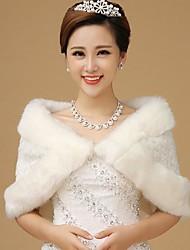 Fue Wraps Elegant  Faux Fur Wedding /Special Occasion Shawl
